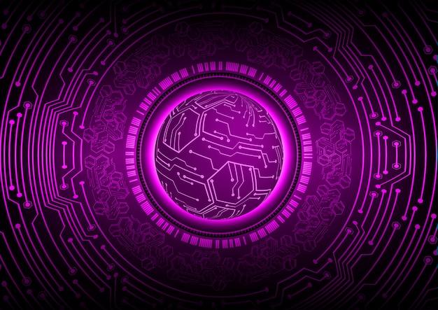 Paarse wereld cyber circuit toekomst technologie concept achtergrond