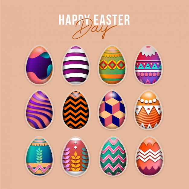 Paasdag eieren collectie