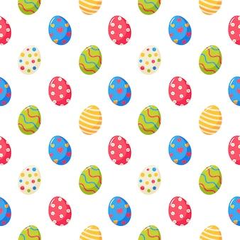 Paasdag eieren naadloze patroon