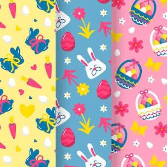 Paasdag handgetekende patroon set