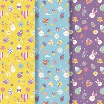 Paasdag patroon collectie in plat ontwerp