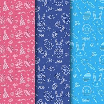 Paasdag patroon collectie ontwerp