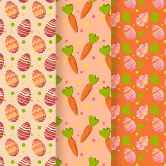 Paasdag patroon platte ontwerp collectie