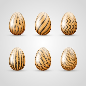 Paasdag verschillende eieren set
