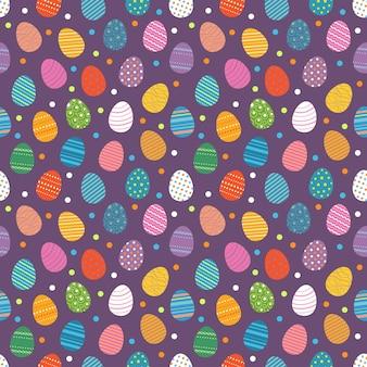 Paaseieren naadloos patroon. paaseieren voor het ontwerpconcept van de paasvakantie