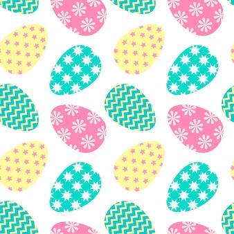 Paaseieren naadloos patroon traditioneel symbool van pasen ontwerp voor textiel inpakbehang