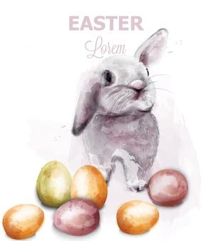 Paashaas konijn aquarel