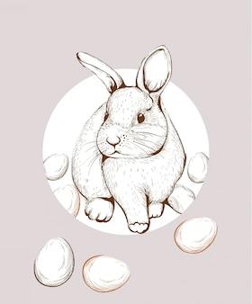 Paashaas konijn lineart
