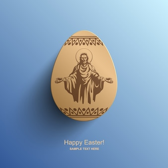 Paaskaart met een afbeelding van jezus christus, pasen-achtergrond