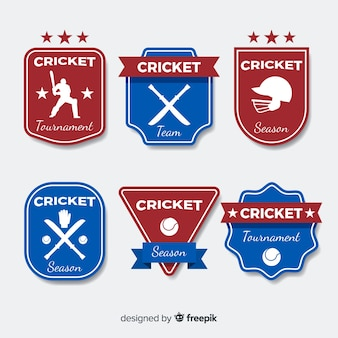 Pack cricket-etiketten