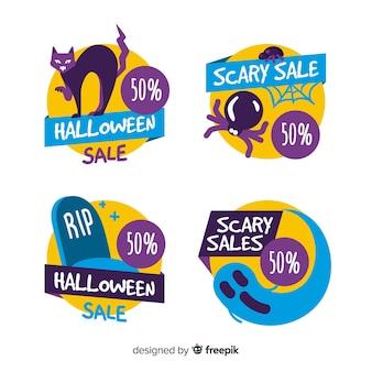 Pack halloween verkoopetiketten