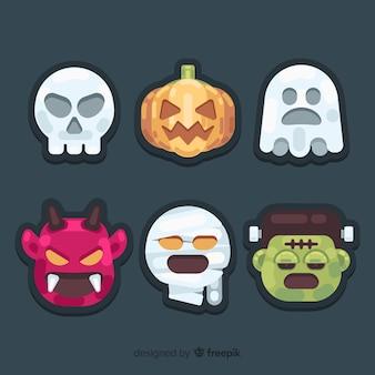 Pack met creatieve halloween-elementen