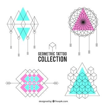 Pack met geometrische tatoeages