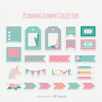 Pack met planningselementen
