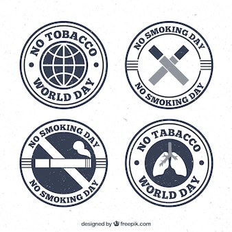 Pack of anti-tabak stickers