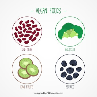 Pack of veganistische ingrediënten