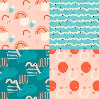 Pack van abstract getrokken patroon