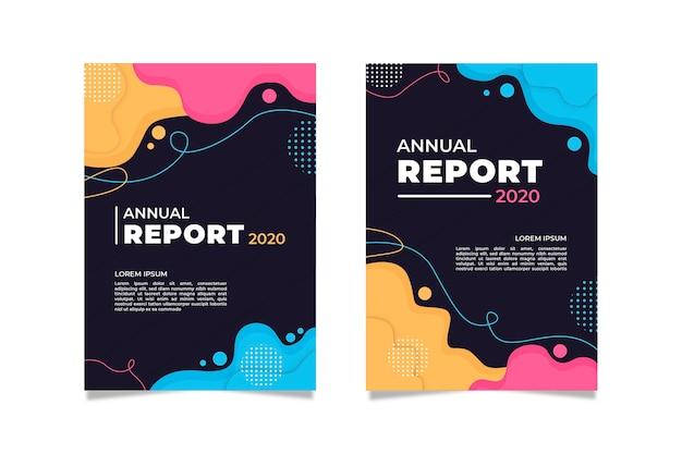 Pack van abstracte kleurrijke covers