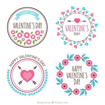 Pack van decoratieve valentijn stickers