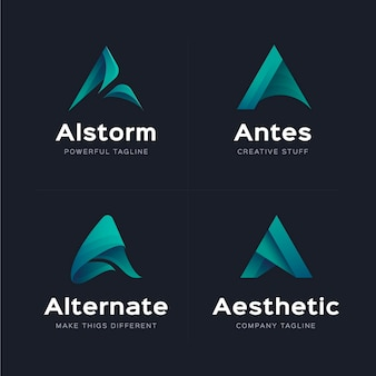 Pack van gradiënt a logo-sjablonen