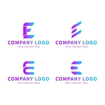 Pack van gradiënt o logo-sjablonen