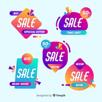 Pack van gradiënt verkoop banner