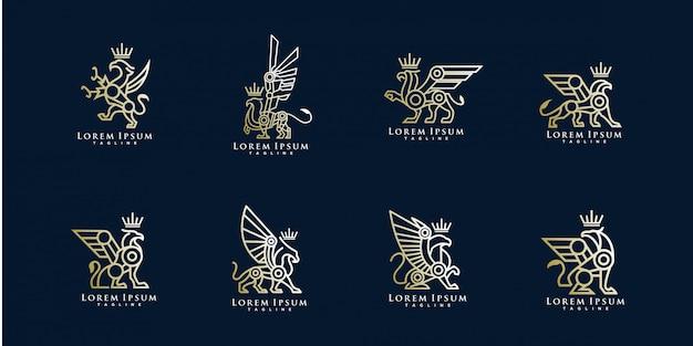 Pack van griffin logo sjabloon