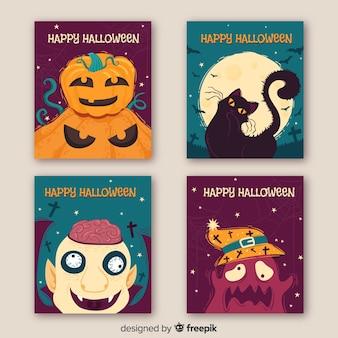 Pack van halloween-kaarten