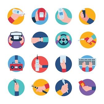 Pack van handheld gadgets pictogrammen