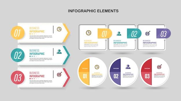 Pack van infographics element sjabloon.