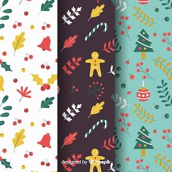 Pack van kerst patroon collectie