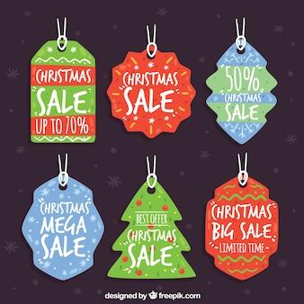 Pack van kerstmis verkooplabels