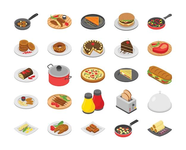 Pack van koken pictogrammen
