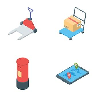 Pack van logistiek levering iconen