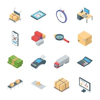Pack van logistieke pictogrammen