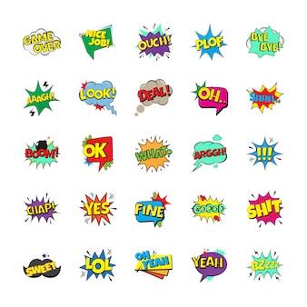 Pack van pop-art bubbels