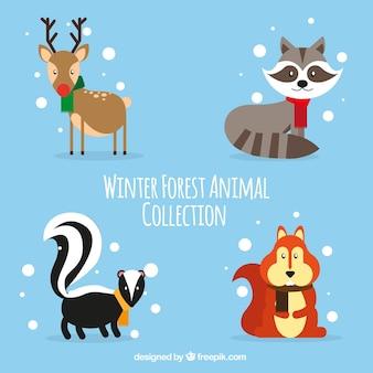 Pack van prachtige bosdieren