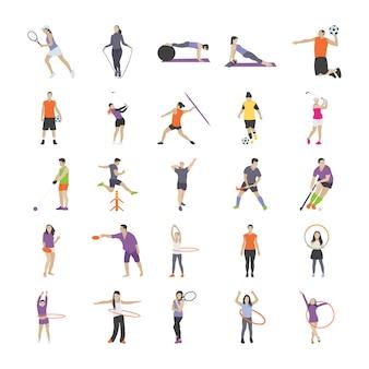 Pack van sport pictogrammen