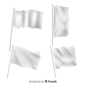 Pack van textiel vlaggen