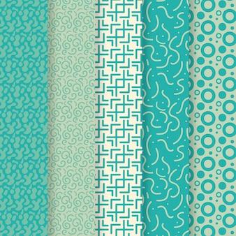 Pack van verschillende afgeronde lijnen patroon