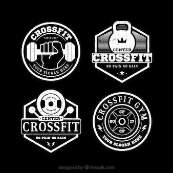 Pack van vintage crossfit stickers