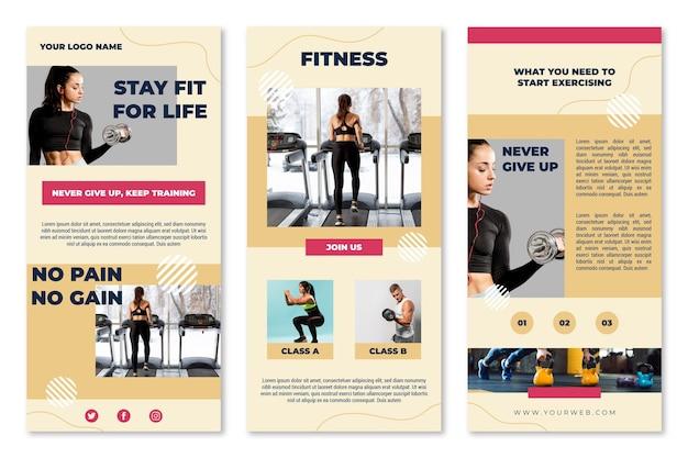 Pack van workout e-mailsjabloon