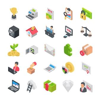 Pack van zakelijke pictogrammen