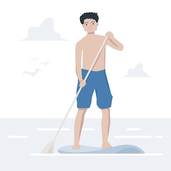 Paddle board guy