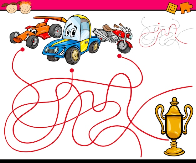 Paden of doolhof cartoon game