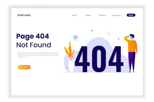 Pagina 404 foutillustratie met mensen