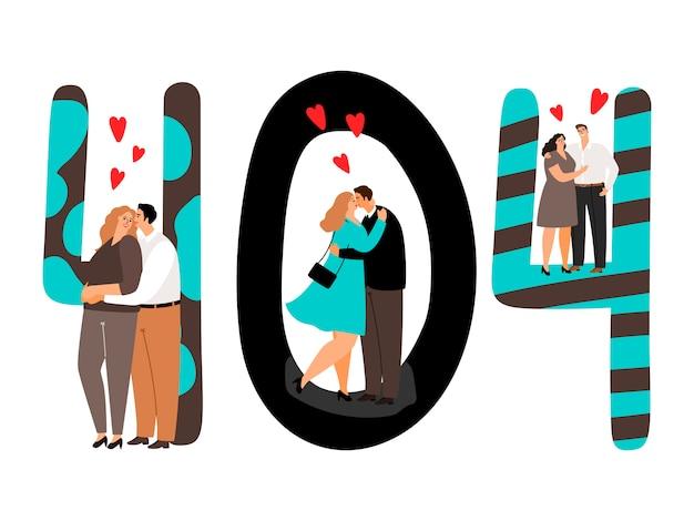 Pagina 404 verliefde mensen