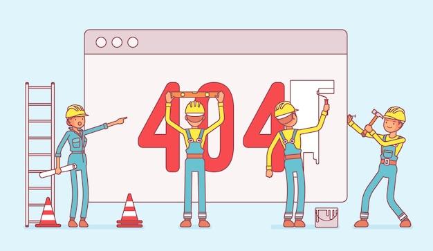 Pagina met 404-code in aanbouw