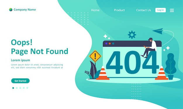 Pagina niet gevonden fout 404 landingspagina