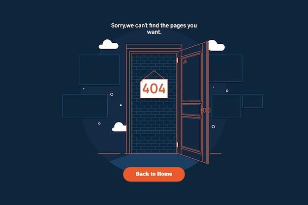 Pagina niet gevonden fout 404.